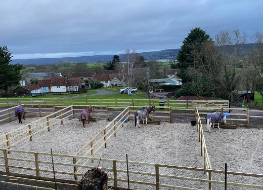 Completed equestrian turnout area