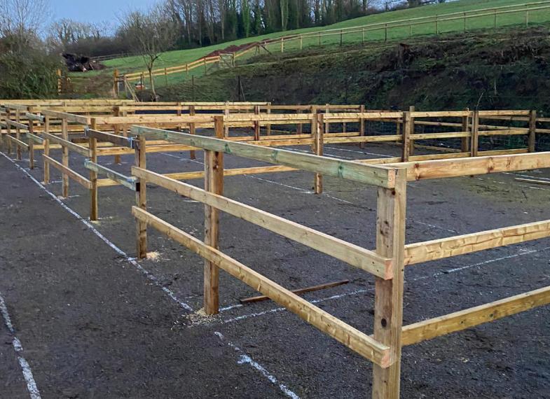 Equestrian turnount area under construction