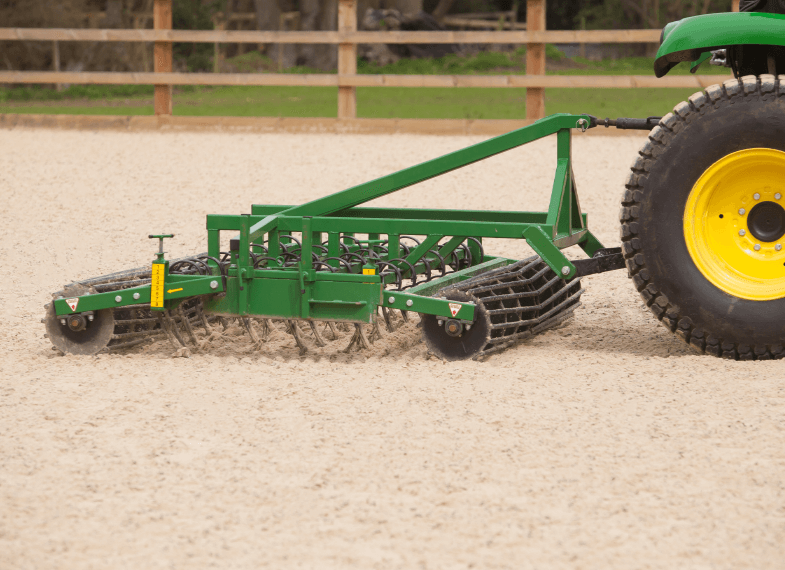 grading an equestrian arena surface